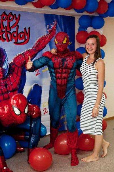 человек паук ребенку на день рождения
