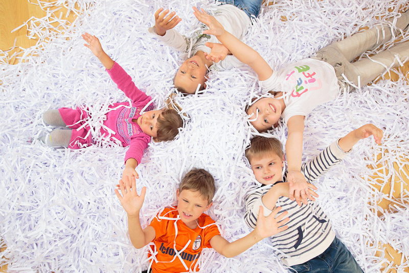 бумажное шоу на детский праздник в кемерово